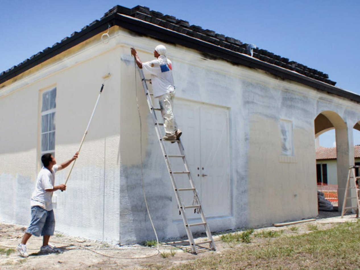 Exterior outside house paint around Grant-Valkaria Florida