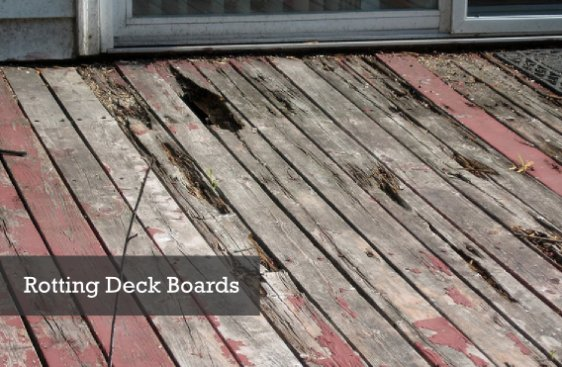 Rotting wood deck repair and sealing Tamarac