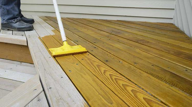 Cooper City Rotten wood restoration deck sealing and painting
